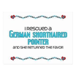 Rescaté un indicador de pelo corto alemán postal
