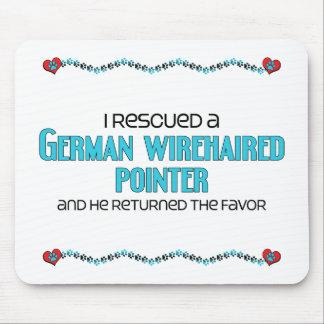 Rescaté un indicador Wirehaired alemán (el perro m Mousepad