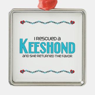 Rescaté un Keeshond el perro femenino Ornaments Para Arbol De Navidad