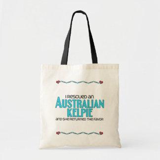 Rescaté un Kelpie australiano (el perro femenino) Bolsa De Mano
