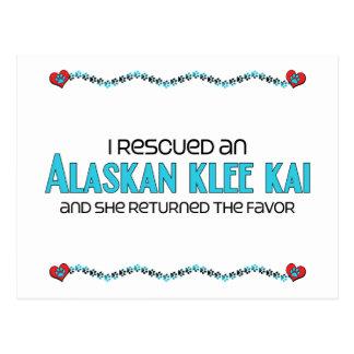 Rescaté un Klee de Alaska Kai (el perro femenino) Tarjetas Postales