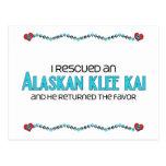 Rescaté un Klee de Alaska Kai (el perro masculino) Postales