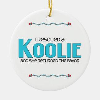 Rescaté un Koolie el perro femenino Ornaments Para Arbol De Navidad
