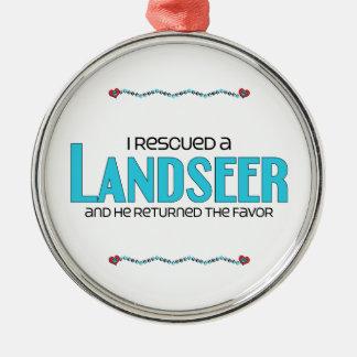 Rescaté un Landseer el perro masculino Ornamento De Navidad