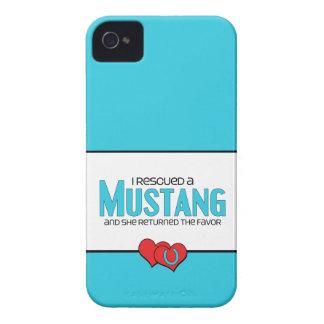 Rescaté un mustango (el caballo femenino) iPhone 4 Case-Mate carcasa