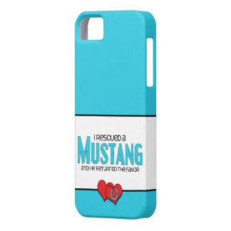 Rescaté un mustango (el caballo masculino) iPhone 5 funda