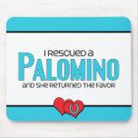 Rescaté un Palomino (el caballo femenino) Alfombrilla De Raton