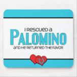 Rescaté un Palomino (el caballo masculino) Alfombrillas De Raton