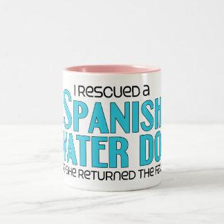 Rescaté un perro de agua español (el perro taza de dos tonos