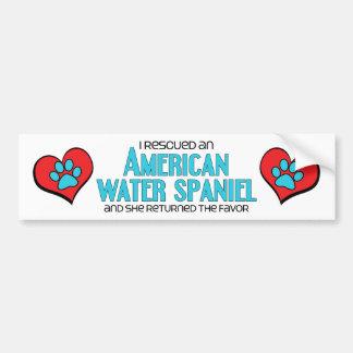 Rescaté un perro de aguas de agua americana (el pe pegatina para auto