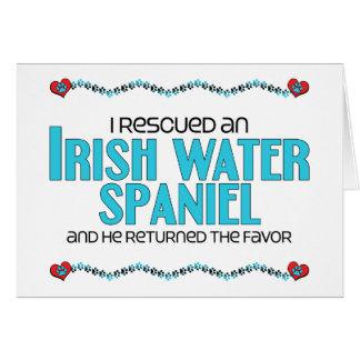 Rescaté un perro de aguas de agua irlandesa (el pe tarjeta de felicitación