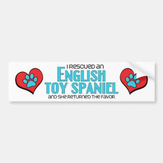 Rescaté un perro de aguas de juguete inglés el pe etiqueta de parachoque