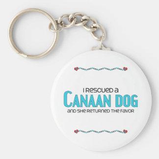 Rescaté un perro de Canaan (el perro femenino) Llavero Redondo Tipo Pin