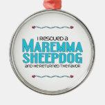 Rescaté un perro pastor de Maremma (el perro mascu Ornamento Para Arbol De Navidad