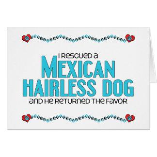 Rescaté un perro sin pelo mexicano (el perro mascu tarjeta de felicitación