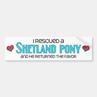 Rescaté un potro de Shetland (el potro masculino) Pegatina Para Auto