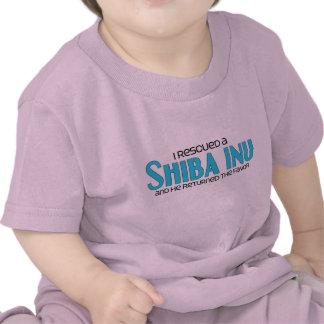 Rescaté un Shiba Inu (el perro masculino) Camiseta
