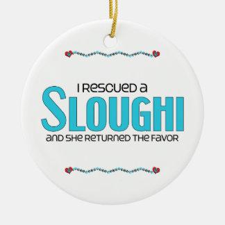 Rescaté un Sloughi el perro femenino Ornamentos De Reyes