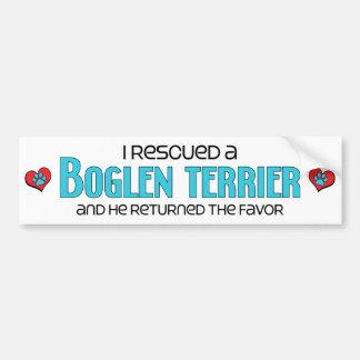 Rescaté una adopción del perro de Boglen Terrier Pegatina Para Auto