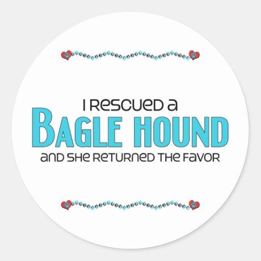 Rescaté una adopción (femenina) del perro del pegatinas redondas