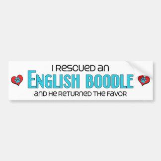 Rescaté una adopción inglesa del perro del Boodle Etiqueta De Parachoque