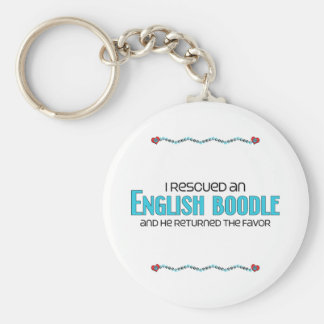Rescaté una adopción inglesa del perro del Boodle Llavero Redondo Tipo Pin