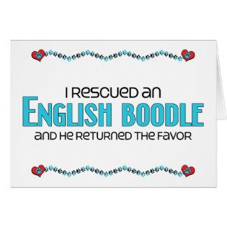 Rescaté una adopción inglesa del perro del Boodle Tarjeta De Felicitación