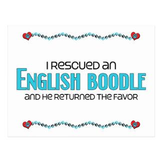 Rescaté una adopción inglesa del perro del Boodle Tarjeta Postal