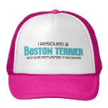 Rescaté una Boston Terrier (el perro femenino) Gorros