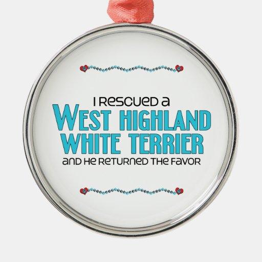 Rescaté una montaña Terrier blanco del oeste (el p Ornaments Para Arbol De Navidad