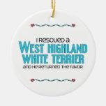 Rescaté una montaña Terrier blanco del oeste (el p Ornamentos De Reyes