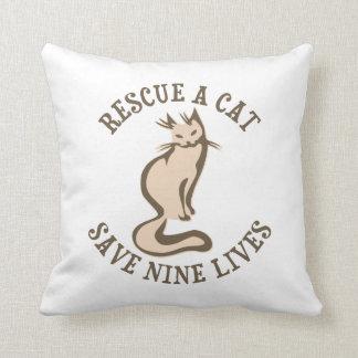 Rescate una reserva del gato nueve vidas almohadas
