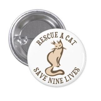 Rescate una reserva del gato nueve vidas pin