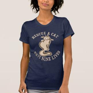 Rescate una reserva del gato nueve vidas camiseta