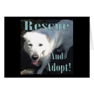 ¡Rescate y adopte! Tarjeta De Felicitación