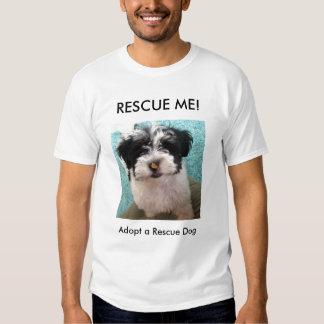 ¡RESCÁTEME! , Adopte un perro del rescate Poleras