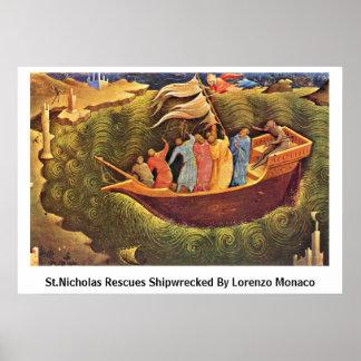 Rescates de San Nicolás naufragados por Lorenzo Mo Poster