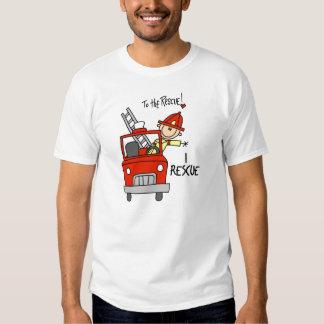 Rescato la camiseta del bombero playera