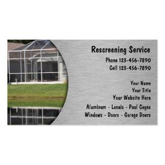 Rescreening Business Cards