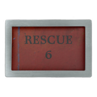 Rescue 6 rectangular belt buckle