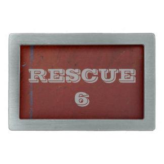 Rescue 6 rectangular belt buckles