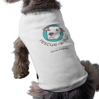 Rescue-a-bull dog tank dog shirt