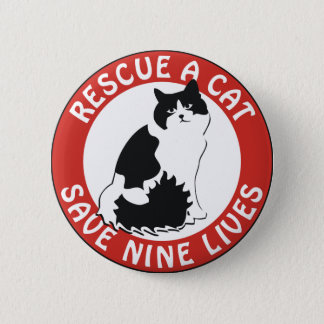 Rescue a Cat, Save Nine Lives Button