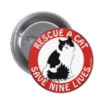 Rescue a Cat, Save Nine Lives Button