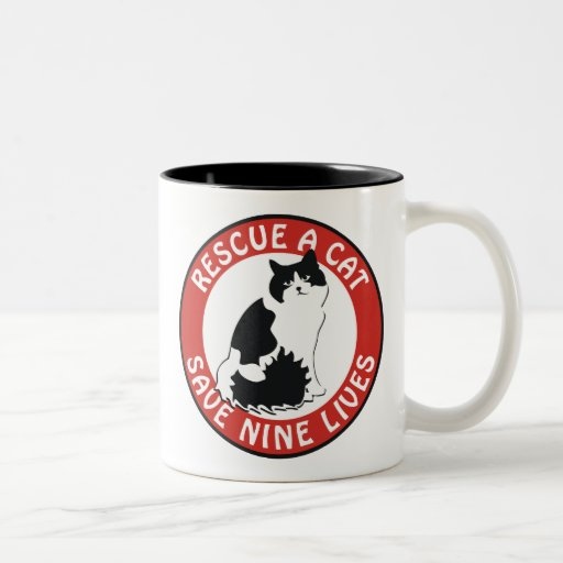 Rescue a Cat, Save Nine Lives Coffee Mugs