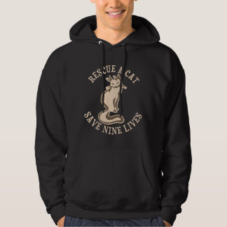 Rescue A Cat Save Nine Lives Hoodie