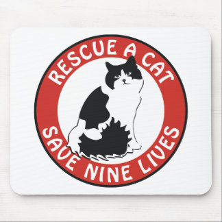 Rescue a Cat, Save Nine Lives Mouse Pad