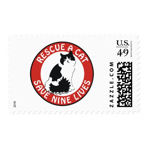 Rescue a Cat, Save Nine Lives Postage
