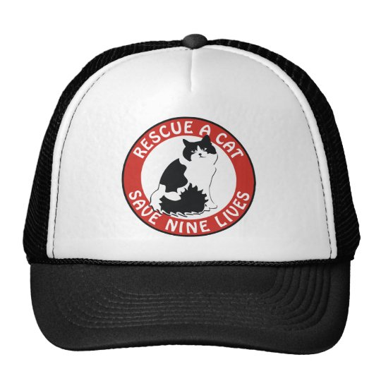 Rescue a Cat, Save Nine Lives Trucker Hat