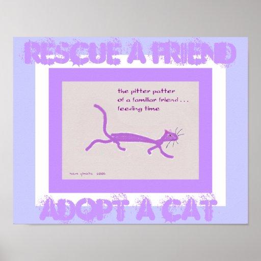 Rescue a Friend - Adopt a Cat Poster